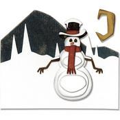Snowman Scene Sizzix Thinlits Dies By Tim Holtz 10/Pkg