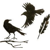 Feather & Ravens Sizzix Thinlits Dies By Tim Holtz 4/Pkg