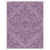 Skull Damask Texture Fades Embossing Folder - Tim Holtz