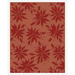 Poinsettias Texture Fades A2 Embossing Folder