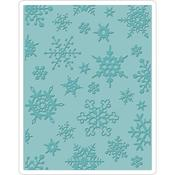Simple Snowflakes Texture Fades A2 Embossing Folder
