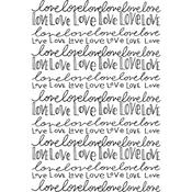 Nothing But Love - Spellbinder Happy Grams #4 Cling Stamps By Tammy Tutterow