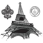 Paris Collage Stamps - Spellbinder Ooh La La Cling Stamp Set By Stacey Caron