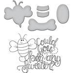 Bee Any Sweeter - Spellbinder Happy Grams #4 Stamp & Die Set By Tammy Tutterow