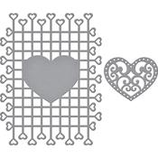 Trailing Hearts - Spellbinder Timeless Heart Designer Series