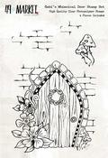 "Gabi's Whimsical Door - 49 & Market Clear Stamps 4""X6"""