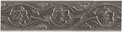 Floral Scroll - U-Paint Collectible Vintage Antique Silver Bookmark