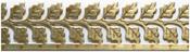 "Twin Veined Leaves 11/16"" - U-Paint Vintage Brass Deco-Trim"