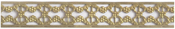 "Filigree 1/2"" - U-Paint Vintage Brass Deco-Trim"