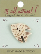 "Angel Fish 1-1/2"" 1/Pkg - Handmade Bone Buttons"