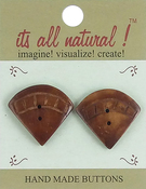 "Oriental Fan 1-1/4"" 2/Pkg - Handmade Bone Buttons"