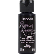 Black - Patent Leather Paint 2oz