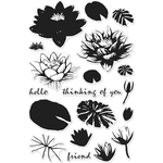 """Color Layering Water Lilies - Hero Arts Clear Stamps 4""""X6"""""""