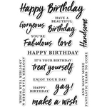 """Birthday Messages - Hero Arts Clear Stamps 4""""X6"""""""