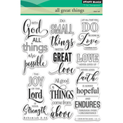 "All Great Things - Penny Black Clear Stamps 5""X7"""