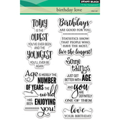 "Birthday Love - Penny Black Clear Stamps 5""X7"""