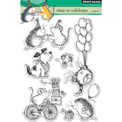 """Time To Celebrate - Penny Black Clear Stamps 5""""X7"""""""