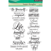 "Happy Thoughts - Penny Black Clear Stamps 5""X7"""