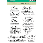 """Happy Wishes - Penny Black Clear Stamps 5""""X7"""""""