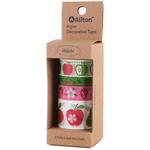Fruits - Decorative Washi Tape Assorted Widths 5m 4/Pkg