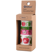 Fruits - Decorative Washi Tape Assorted Widths 5m 4/Pkg