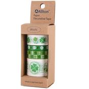 Four Leaf Clover - Decorative Washi Tape Assorted Widths 5m 4/Pkg