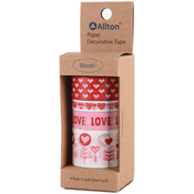 Hearts - Decorative Washi Tape Assorted Widths 5m 4/Pkg