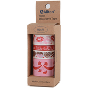 Valentine - Decorative Washi Tape Assorted Widths 5m 4/Pkg