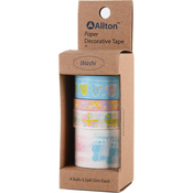 Baby - Decorative Washi Tape Assorted Widths 5m 4/Pkg