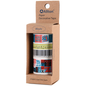 Numbers - Decorative Washi Tape Assorted Widths 5m 4/Pkg