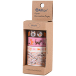 Cats - Decorative Washi Tape Assorted Widths 5m 4/Pkg