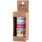 Happy Birthday - Decorative Washi Tape Assorted Widths 5m 4/Pkg