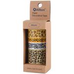 Leopard - Decorative Washi Tape Assorted Widths 5m 4/Pkg