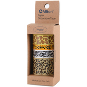 Leopard - Decorative Washi Tape Assorted Widths 5m 4/Pkg
