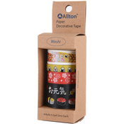 Japan - Decorative Washi Tape Assorted Widths 5m 4/Pkg