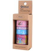 Easter - Decorative Washi Tape Assorted Widths 5m 4/Pkg
