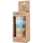 Travel - Decorative Washi Tape Assorted Widths 5m 4/Pkg