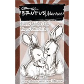 "Bunny Kisses - Brutus Monroe Clear Stamps 3""X4"""