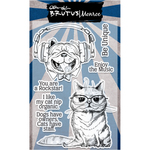 "Rockstar Pets - Brutus Monroe Clear Stamps 4""X6"""