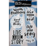 """Break The Rules - Brutus Monroe Clear Stamps 4""""X6"""""""