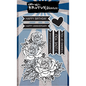 "Botanical Banners - Brutus Monroe Clear Stamps 4""X6"""