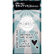 "Little Monster - Brutus Monroe Clear Stamps 2""X3"""