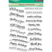 """Banner Sentiments - Penny Black Clear Stamps 5""""X7"""""""