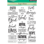 "Hope Shines - Penny Black Clear Stamps 5""X7"""