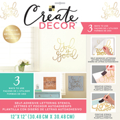 """God Is Good-Gold - DCWV Create Decor Self-Adhesive Lettering & Stencil 12""""X12"""""""