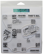 """Oh, Hello Turnabout - Concord & 9th Clear Stamps 6""""X6"""""""