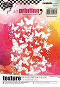 Butterflies - Carabelle Studio Art Printing A6 Rubber Texture Plate