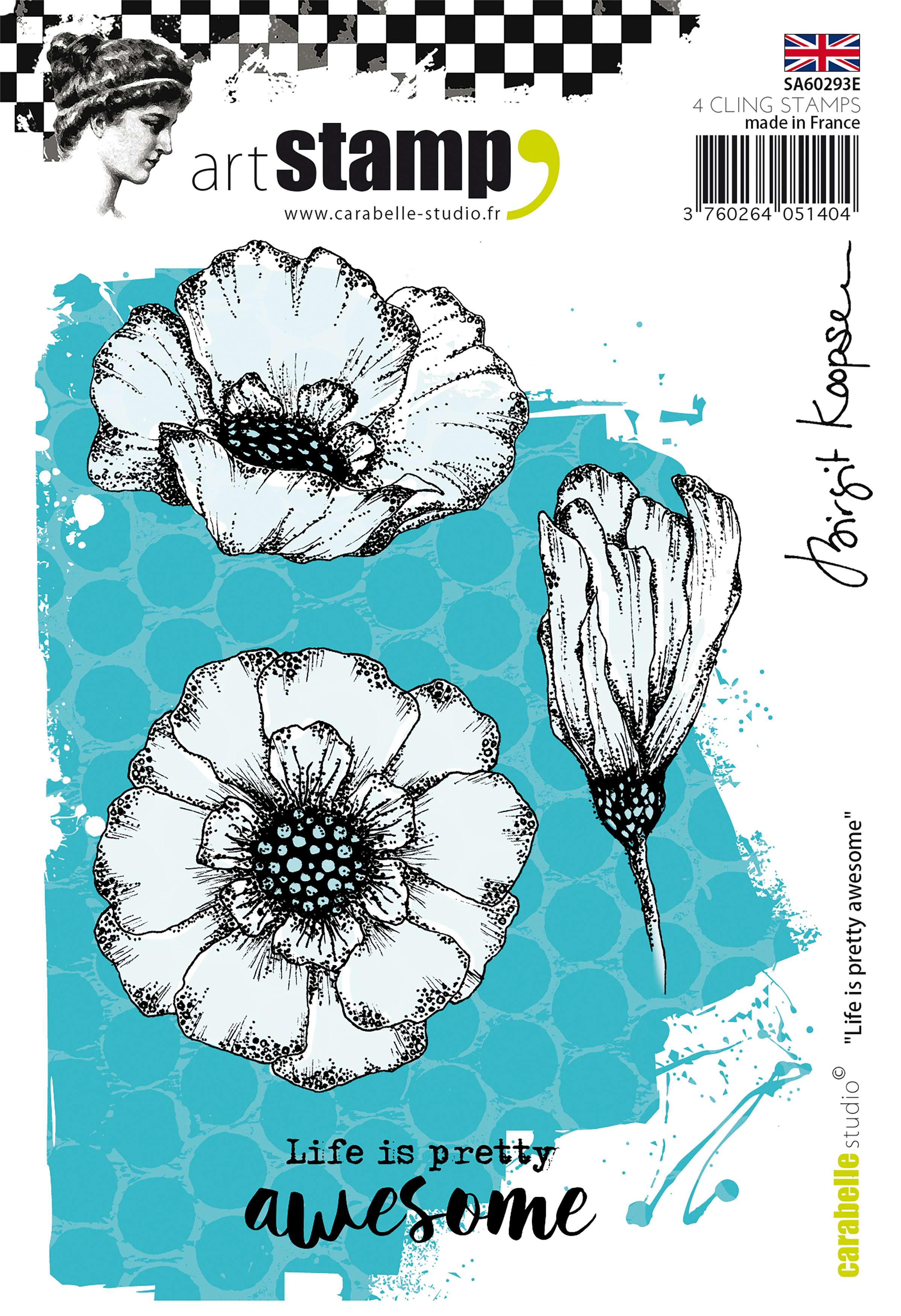 Life Is Pretty Awesome - Carabelle Studio Cling Stamp A6 By Birgit Koopsen