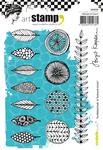 Scribbled Leaves & Textured Circles - Carabelle Studio Cling Stamp A6 By Birgit Koopsen