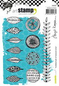Scribbled Leaves & Textured Circles - Carabelle Studio Cling Stamp A6 By Birgit Koopsen